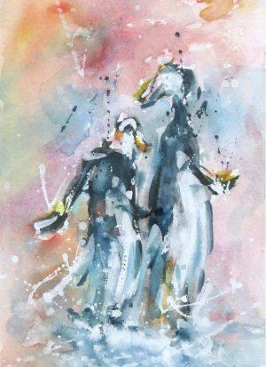 pingviiniherrat juhlatuulella